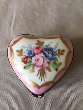Limoges Porcelain Floral Heart Box
