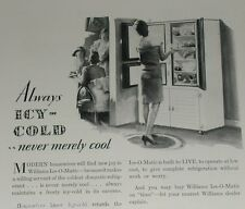 1929 Williams Refrigerator advertisement, early electric fridge, Ice-O-Matic