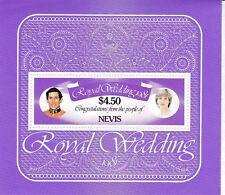 NEVIS 1981 ROYAL WEDDING $4.50 SOUVENIR SHEET MNH