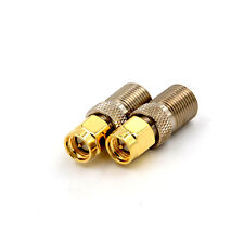 F Female Jack to SMA Male Plug Straight RF Coax Coaxial Connector Adapter C!C