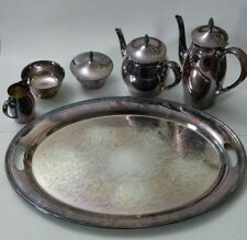 Vintage GORHAM  6 Pieces Silver Plated Tea Set.1959.