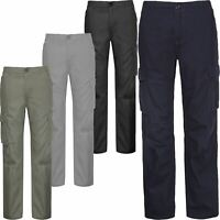 New Mens Work Trousers Combat Multi Pockets Heavy Duty Cargo Anko Regular Pants