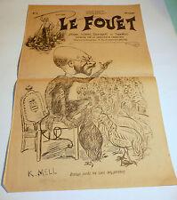1896 n°2 ancien journal de Beziers le fouet caricature politique tres rare
