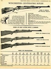 1968 Print Ad Winchester Model 70 African, 670 Rifle & Carbine