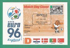 FOOTBALL  -   STAMP  COVER  ENVELOPE  FOR  EURO  96  -  MATCH  NO.  8  -  1996