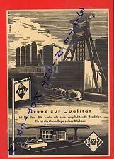 HAMBURG, Werbung 1952, BV ARAL Benzin Erd-Öl Tankstelle Kohle