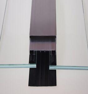 Profile bzw. Flachdeckschienen zur Glasbefestigung, Glasdachprofile 50 mm breit