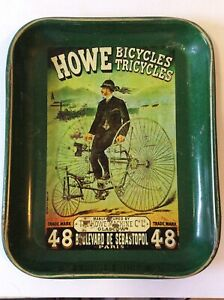 Vintage Howe Bicycles Steel Drinks Tray