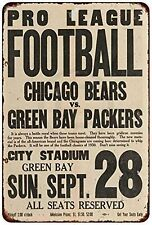 """1930 Chicago Bears vs. Green Bay Packers Rustic Retro Metal Sign 8"""" x 12"""""""