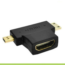 3in1 1080p HDMI Female to Micro / Mini HDMI Male Adapter Connecter Type D C A RA
