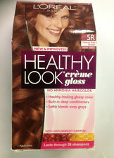 L'Oreal Healthy Look Creme Gloss Hair Color, MEDIUM RED BROWN #5R CHERRY TRUFFLE