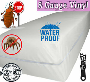 Venice® Superior Heavy 8 Gauge Vinyl Zippered Mattress Cover Water Bed-Bug Proof