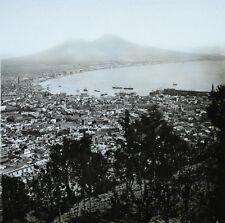 1860s Glass Stereoview Photo Panorama Gulf Of Naples Napoli Italy