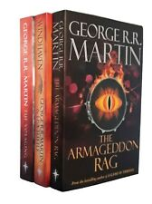 George RR Martin 3 Book Science Fiction Windhaven Tuf Voyaging Armageddon New