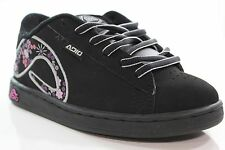 New ADIO Kids Eugene Shoes Size 1 Black/Silver/Pink Synthetic Nubuck DR1