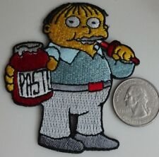 Ralph Eating Paste - The Simpsons Cartoon Embroidered Iron On Patch New - Rare