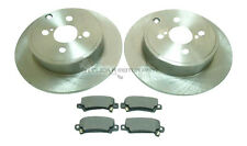 TOYOTA COROLLA VERSO ALL MODELS 2002-2004 REAR 2 BRAKE DISCS & PADS SET (4 STUD)