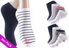 Ringel Damen-Socken aus Baumwollmischung als Mehrstückpackung