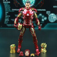 "HOT Avengers Character Tony Stark Iron Man MK43 Civil War 7"" Model Figure Boxed"