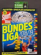 Sport Bild Sonderheft Bundesliga 2018/2019+Spielplan Poster+5€ Wettgutschein  1A