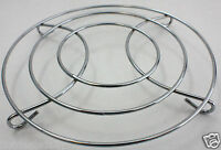 """STAINLESS STEEL CHROME TRIVET WIRE 8"""" ROUND SHAPED HOT PLATE HOME DECOR"""