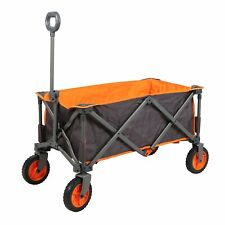 PORTAL Collapsible Folding Camping Utility Wagon Garden Cart Shop Beach 225lbs