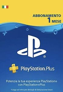 PLAYSTATION PLUS Abbonamento 1 Mese per PS5 PS4 PS3 PS Vita - IT Istant Delivery