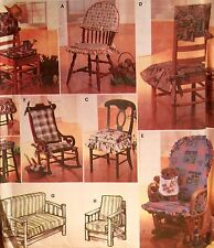 NEW/VINTAGE 1997 'SIMPLICITY' CHAIR PADS FUTON & GLIDER COVERS PATTERN 7966