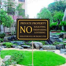1pc 30X20cm Private Property No Trespassing Door Signs Retro Aluminium Plaques