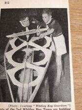 Ephemera 1954 Picture 2nd Whitley Bay Troop Boy Scouts Build A Canoe Mr1115