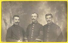 cpa Carte Photo ALLEMAGNE 1918 PRISONNIERS de GUERRE Sergent Léon VOREUX 145e RI
