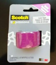New listing 3Packs of 3M Scotch Expressions Purple Lace tape 4mm x 30mm each pack Super Rare
