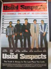 """THE USUAL SUSPECTS 24"""" x 34"""" Movie Poster Kevin Spacey Stephen Baldwin Pollack"""