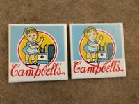 Set of Two - Vintage 1983 Campbell's Baby Coaster - Good Condition!