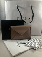 FURLA Moonstone Saffiano Leather Envelope Card Case Wallet   NEW