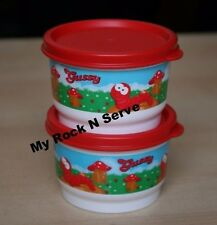 TUPPERWARE Baby Gussy Worm Snack Cup 4 oz (2)  New