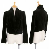 Yves Saint Laurent rive gauche Velours Short Jacket Size 40(K-75846)