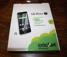"""BRAND NEW SEALED Cricket LG Risio 2 Quad-Core 16GB 5"""" 4G LTE Smartphone - Silver"""