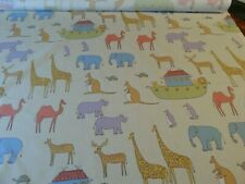 New Noah's Ark Fabric by JOHN LEWIS Nursery / Child 140cm Wide £9.50 per metre