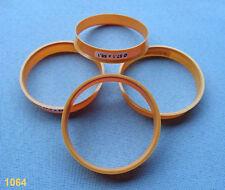 (1064) 4x Bagues de centrage 57,1/56,1 mm Noir/Orange/pour jantes alu