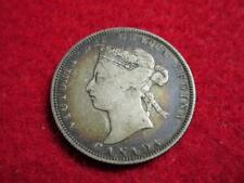 1886 Canada 25 Cents Quarter Better Date Victoria Short Bough Ends KM#5