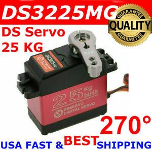 DSSERVO DS3225MG 25KG 270° Waterproof Metal Gear High Torque Digital Servo RC US