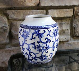 Lauren Ralph Lauren Vase Jar Mandarin Blue White