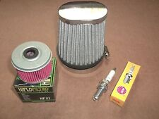 Honda Oil + Performance Air Filter NGK Spark Plug Tune up TRX450 TRX 450 Foreman