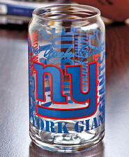 New York Giants NFL Fan Spirit Grafitti Drinking Glass Can