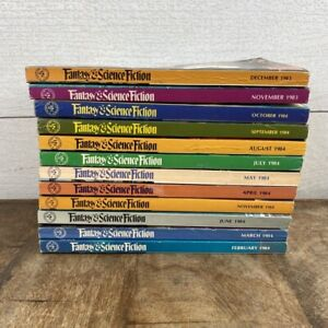 1983, 1984 Fantasy and Science Fiction FATE Amazing Stories Fantastic Lot Of 12