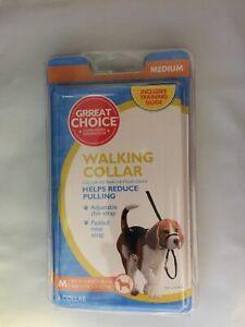 COASTAL ALLIANCE WALKING COLLAR WALK TRAIN REDUCES PULL HEAD HALTER MEDIUM BLACK