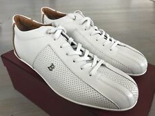 600$ Bally Hadamo White Perforated Leather Sneakers size US 12.5 Made in Italy