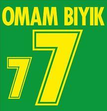 Omam Biyik #7 Cameroon World Cup 1998 Home Football Nameset for shirt