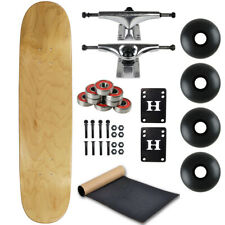 """Blank Skateboard Complete 8.0"""" Natural with Silver Trucks and Black Wheels"""